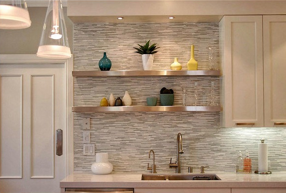 Fun ideas for kitchen shelving the shelving store Floating shelf ideas for kitchen