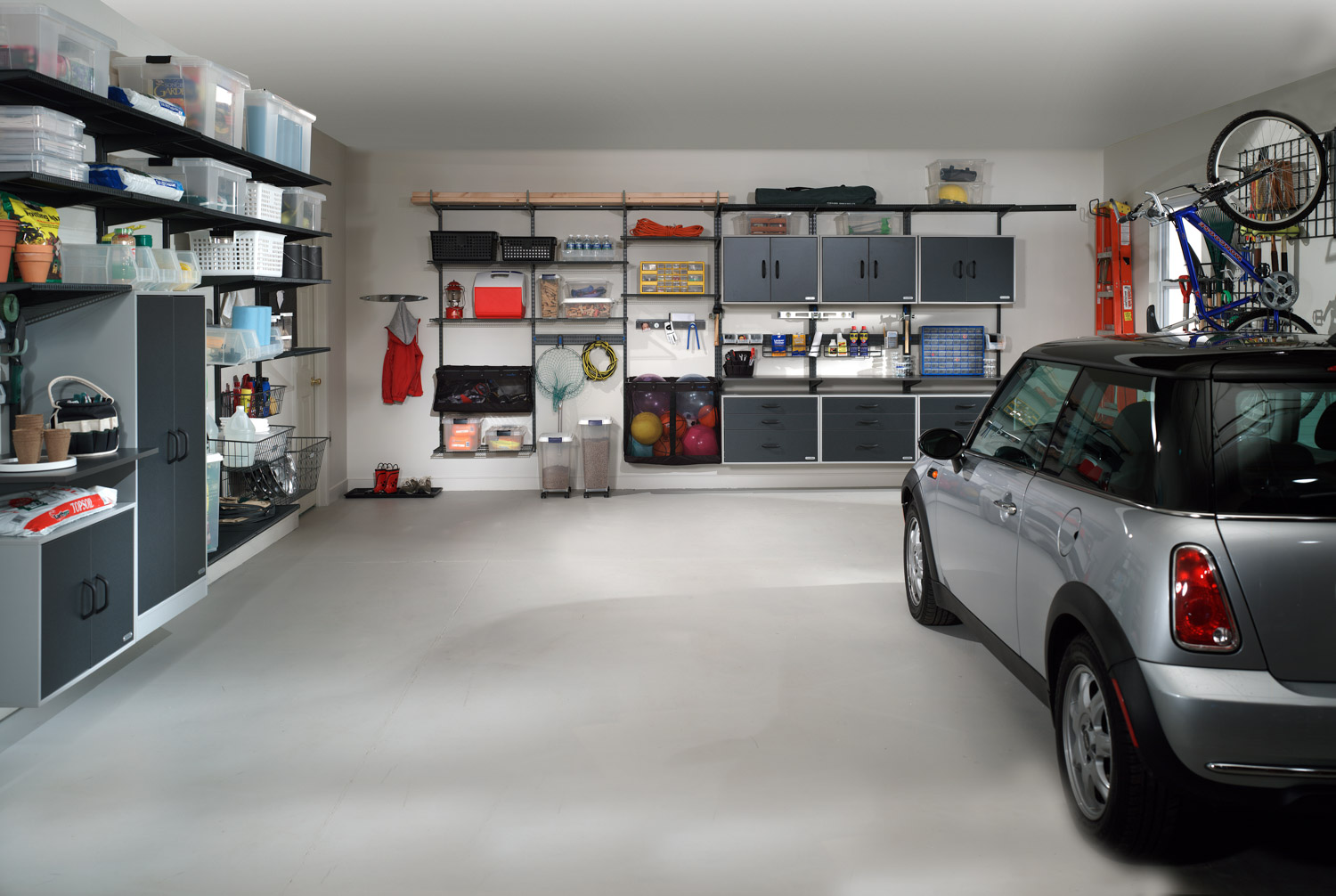 Turn a corner of your garage into sports locker the