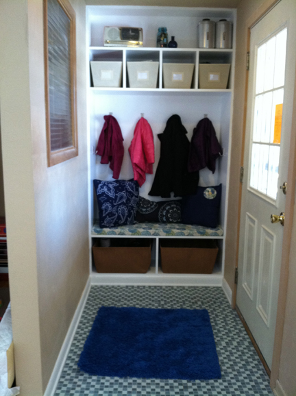 From A Closet To A Mudroom!