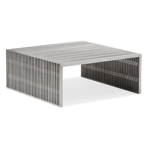 Novel Square Coffee Table Brushed Stainless Steel