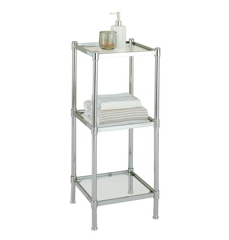 Glacier Glass & 3 Tier Bath Shelf - Organize It All