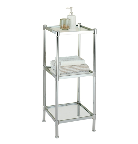 Bathroom Chrome Shelf Unit Image Of