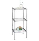 Chrome Metro 3 Tier Shelf with wire shelves