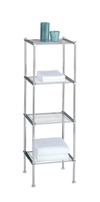 Chrome Metro 4 Tier Shelf with wire shelves