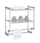 Chrome Metro 2 Tier Mounting Rack w. Towel Bars