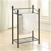 Bronzed Towel Rack