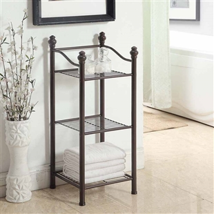 Bronzed Bathroom 3 Tier Tower