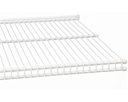 FreedomRail Profile Wire Shelving in a white finish for closets, pantry, office and more.