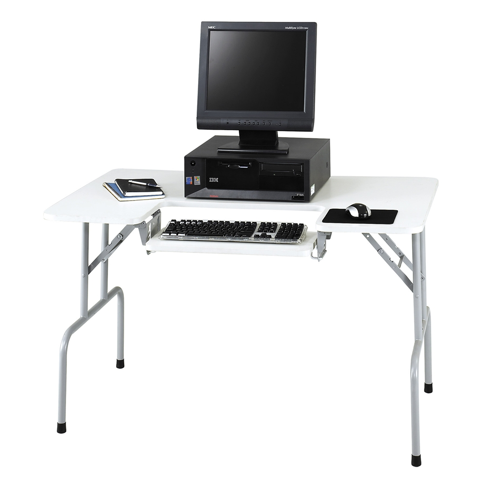 Genial Folding Computer Table With Tilting Keyboard Tray