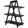 3 Shelf A-Frame bookcase- Black