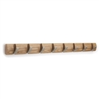 Umbra 8 hook flip coat rack in black, natural, espresso or white