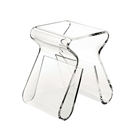Magino Stool With Magazine Rack Clear