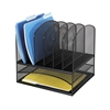 Steel Mesh Desk Organizer with 2 Horizontal and 6 Upright Sections