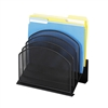 Onyx Mesh Desk Organizer w/ 5 Tiered Upright Sections- Safco
