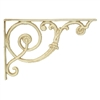 "Wrought Iron Brackets - Romanesque 12""d x 8.25""h (pair) in antique white"