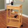 Kitchen Cart with basket for storage