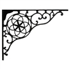 "Wrought Iron Brackets - Circle & Star 13""d x 10""h (pair) in black matte"