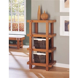 Robust 4 tier shelf and bookcase