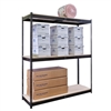 "24""d x 84""h 3-Tier Steel Rivet Shelving"