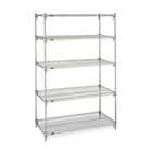 "21""d Metro Wire Shelving with 5 Shelves"