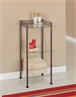 Morocco Bronze and Glass 3 Tier Tower for bathroom and linens