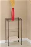 Morocco Bronze and Glass 3 Tier Shelf Wide