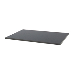 freedomRail solid melamine work top in granite grey for garage shelving