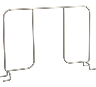 "12"" Ventilated Shelf Divider - Nickel"