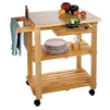 Kitchen Cart with Cutting Board add space to a kitchen