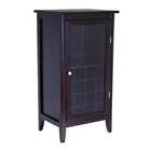 16-Bottle capacity Wood Bar Cabinet in dark espresso wood