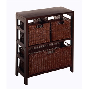 Leo 4pc Shelf with 3 Baskets