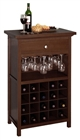 20-Bottle Wine Cabinet with Drawer and stemware holder in walnut