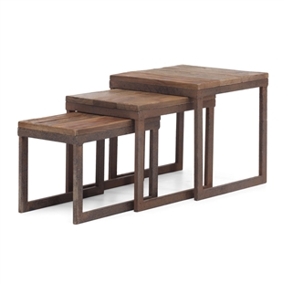 Civic Center Nesting Tables Distressed Natural
