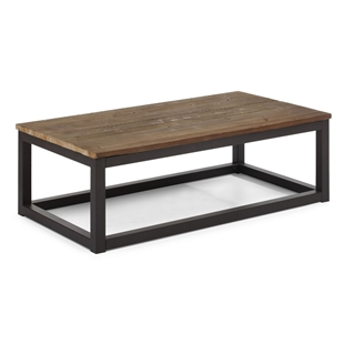 Civic Center Rectangular Coffee Table Distressed Natural