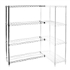 "12""d x 12""w Chrome Wire Shelving Add-On Unit with 4 Shelves"