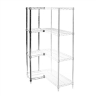 "8""d x 12""h Chrome Wire Shelving Add On Unit with Four Shelves"