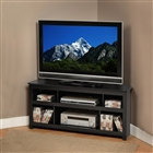 Vasari corner TV stand in black