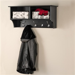 "36""w Coat Rack with Shelves"