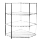 SI Chrome Wire Shelving Pentagon Corner Unit with