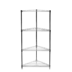 "18""d Triangle Corner Shelving with 4 Shelves"