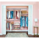 "Organized Living freedomRail Basic Adjustable Closet Unit- 72"" - 76""w"