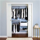 "Organized Living freedomRail Premium Adjustable Closet Unit - 48"" - 52""w"