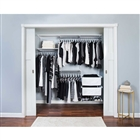 "Organized Living freedomRail Premium Adjustable Closet Unit - 72"" - 76""w"