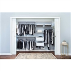 "Organized Living freedomRail Premium Adjustable Closet Unit 96"" - 100""w"