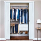 "Organized Living freedomRail Ultimate Adjustable Closet Unit - 48"" - 52""w"