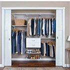 "Organized Living freedomRail Ultimate Adjustable Closet Unit - 72"" - 76""w"