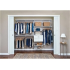 "Organized Living freedomRail Ultimate Adjustable Closet Unit 96"" - 100""w"
