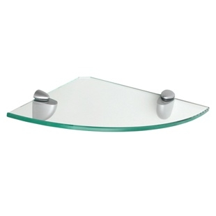 "10"" Glass Corner Shelf with Jam bracket"
