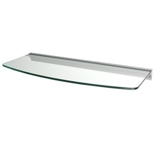 Convex Glass Shelf  with Rail bracket