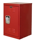 Mini kids locker in red